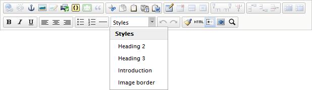 TinyMCE rich-text editor