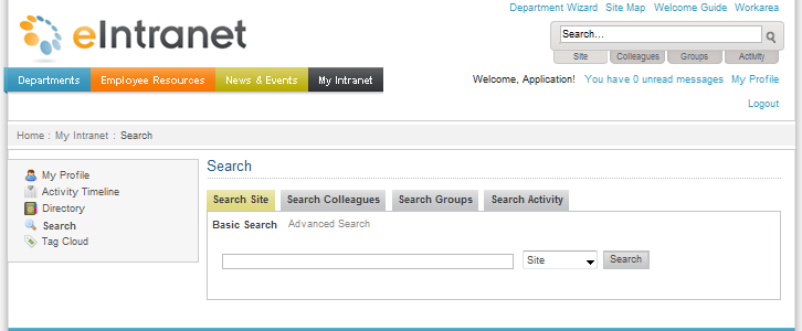 Forms: Search Page