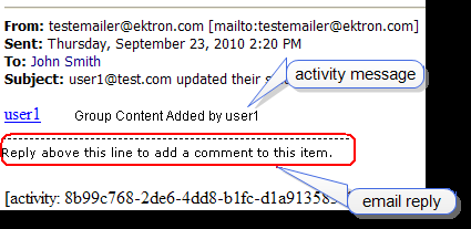 Using email to Communicate Community Activities