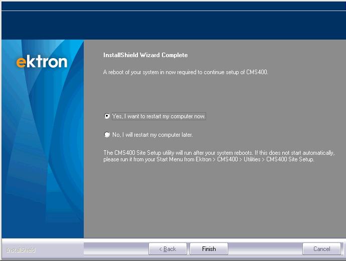 Installing Ektron